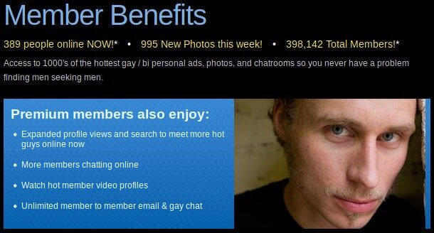 Review OutPersonals about member benefits : premium advantages, messaging and guarantees